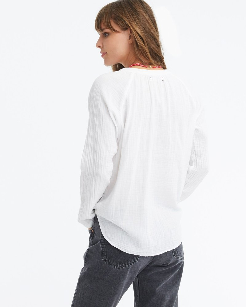 Xirena Hemingway Gauze Top White