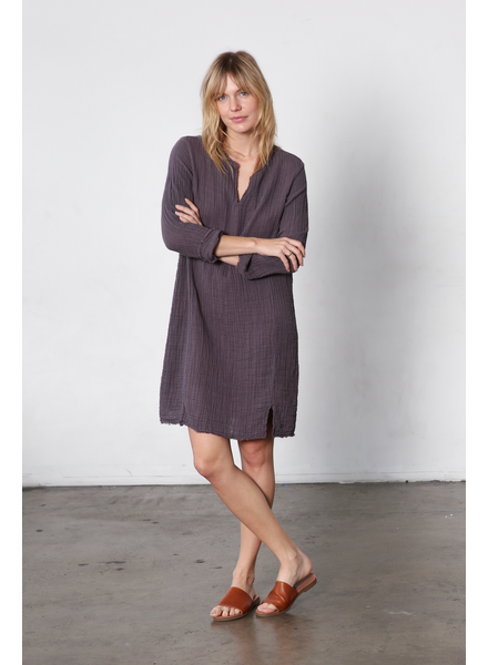 It is well L.A. Split Neck Dress Pewter