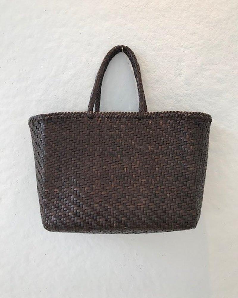 Dragon Large Leather Basket Bag