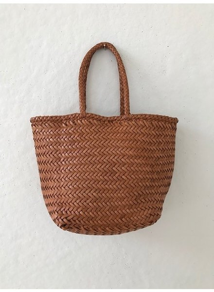 Dragon Small Leather Basket Bag