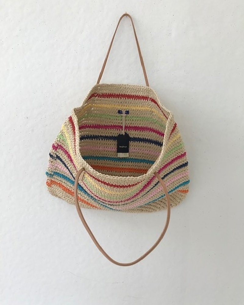 Hat Attack Twisted Tote Rainbow Stripe