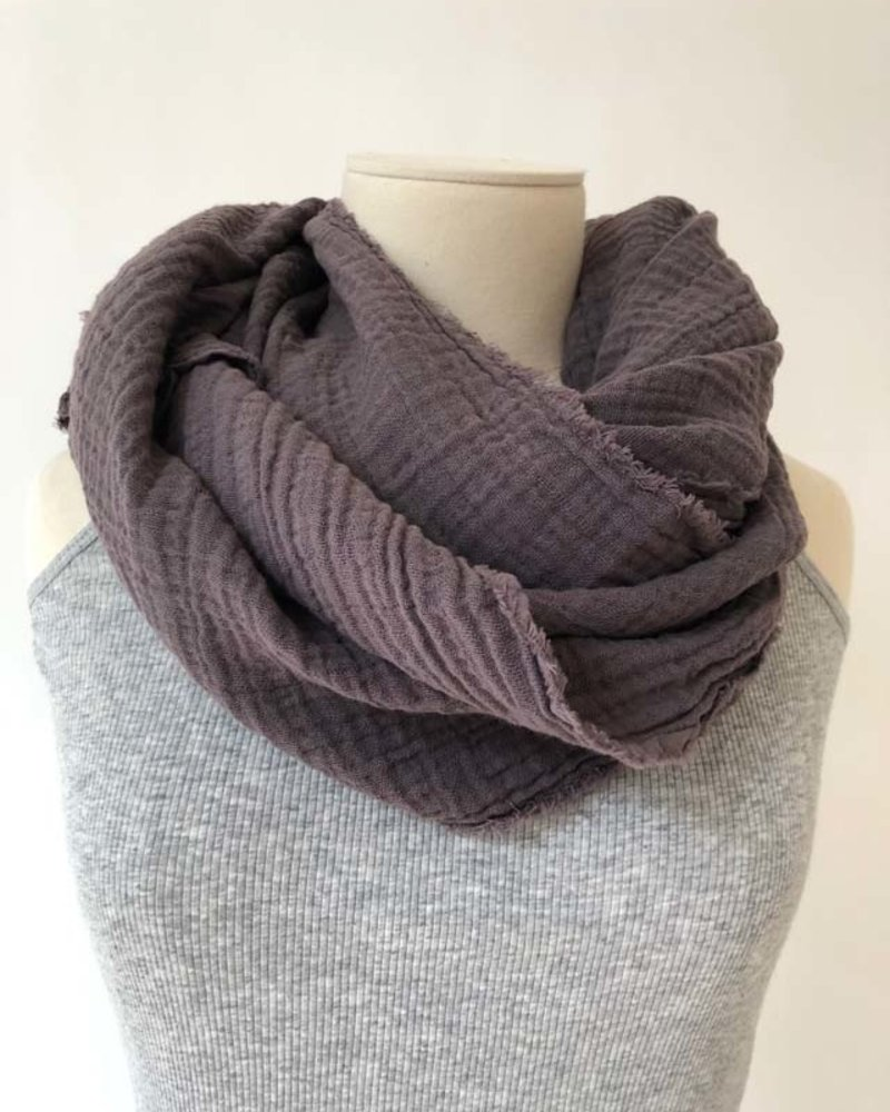 It is well L.A. Gauze Scarf Slate