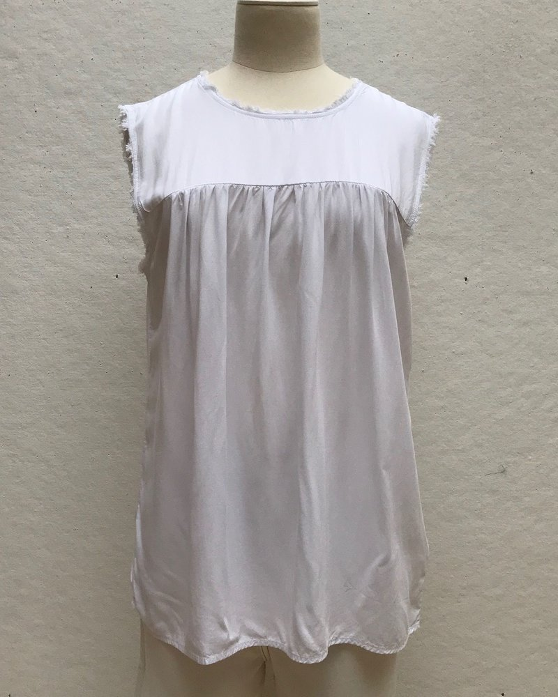 Dylan Ruffle Top White