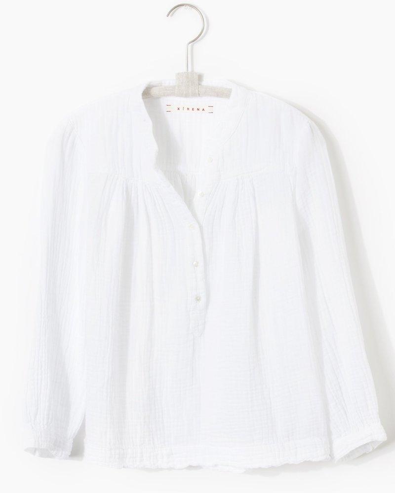 Xirena Alyx Gauze Top White