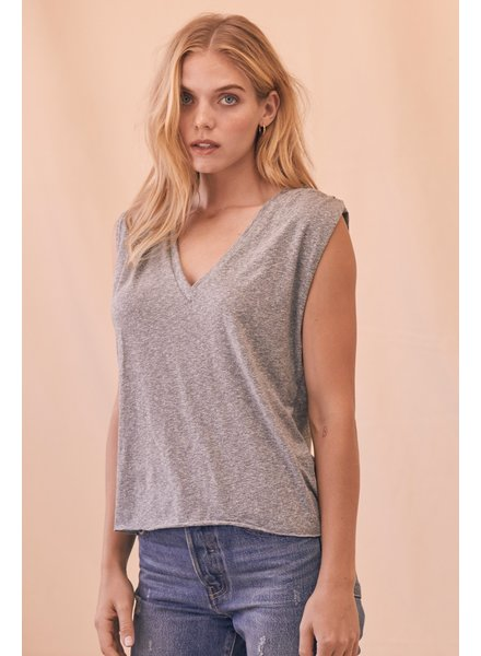LNA Lyle Sleeveless Tee Gray