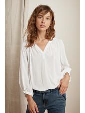 Velvet Kady Blouse White
