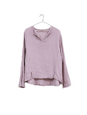 It is well L.A. Split Neck Gauze Top lilac
