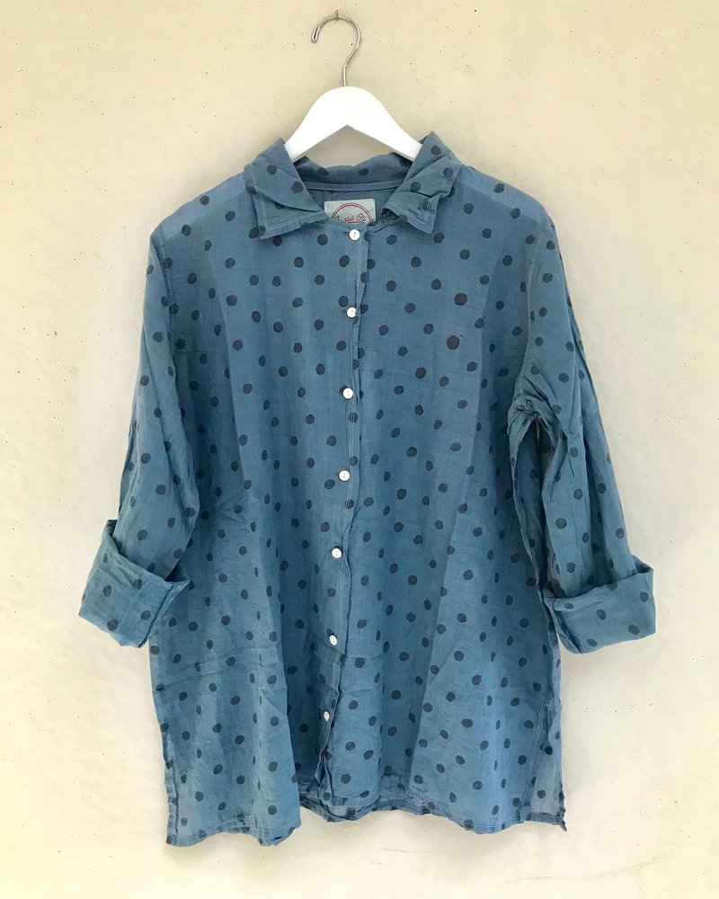 Auntie Oti Print Button Shirt