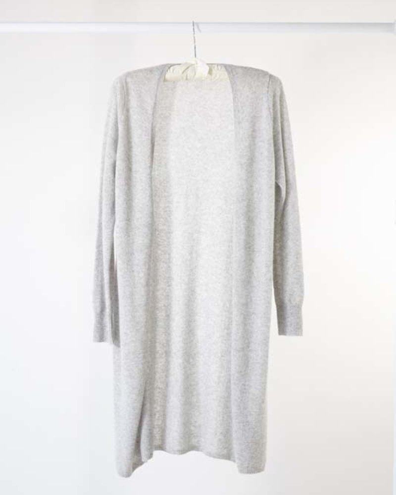 Minnie Rose Cashmere Duster Grey