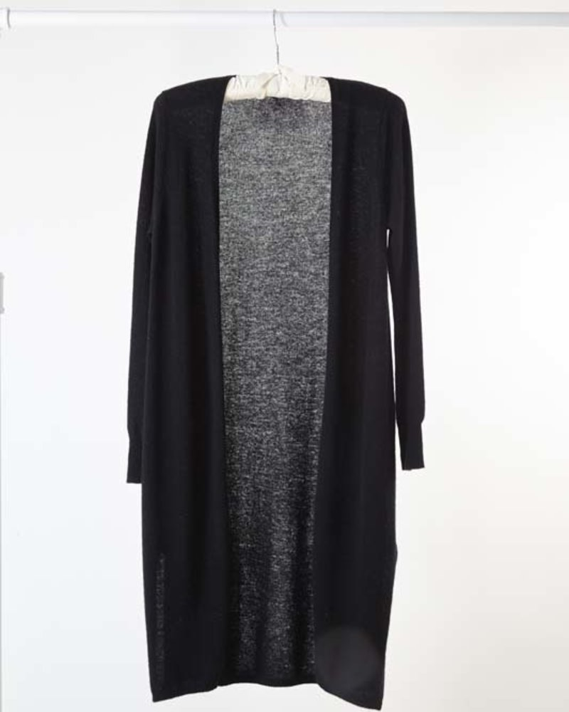 Minnie Rose Cashmere Duster Black