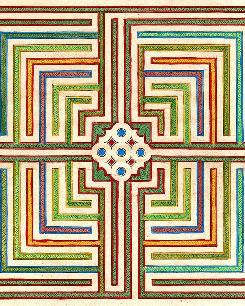 John Derian Scarf JD Maze