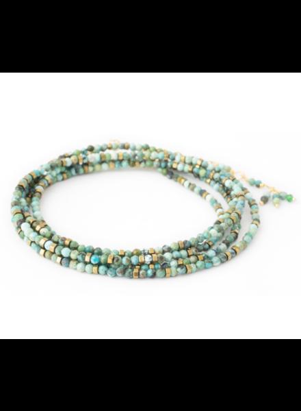 Anne Sportun Gemstone Wrap Bracelet Turquoise