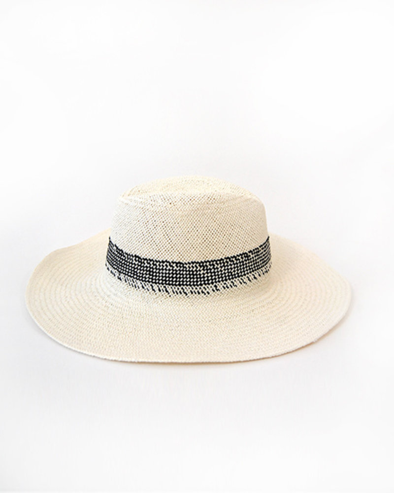 Hat Attack Gingham Inset Hat Ivory