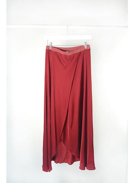 Nation N Wrap Skirt Pomegranate