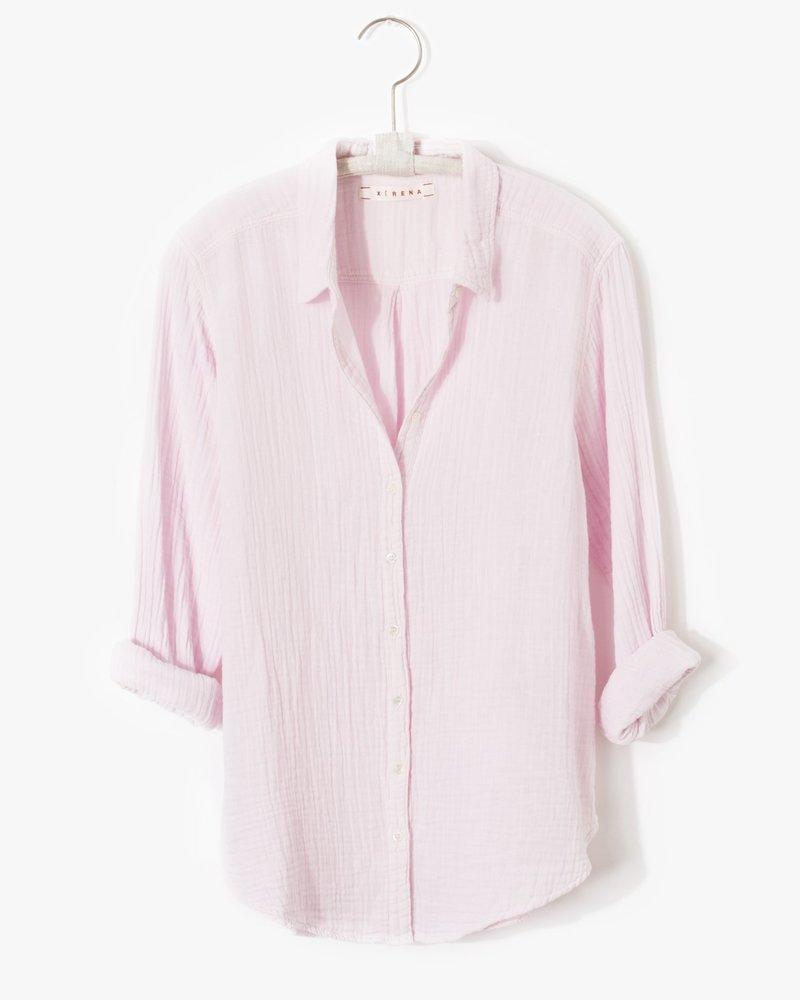 Xirena L/S Gauze Shirt Pink Sky