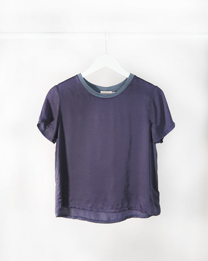 Nation N. Marie Sat. Crop T Indigo