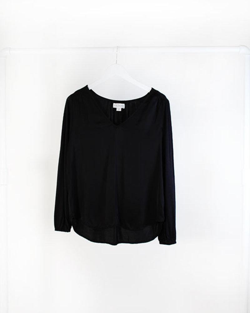 Velvet VT Lux L/S blouse Black