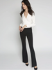 Avenue Montaigne Bellini Crepe Flair Pant Black