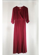 See U Soon SUS Wrap Dress Bordeaux