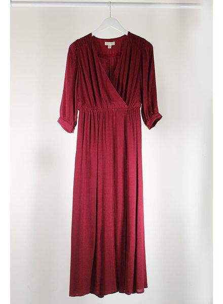 See U Soon SUS Wrap Dress Bordeaux