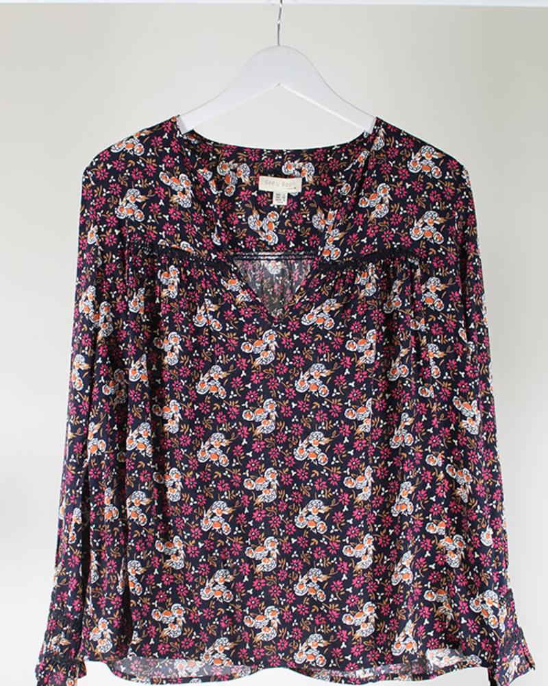 See U Soon SUS Printed Shirt Purple