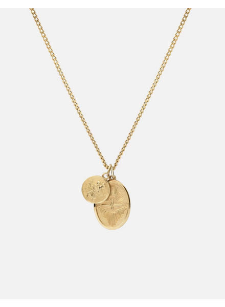 Miansai MI Mini Dove Pendant Neck Vermeil