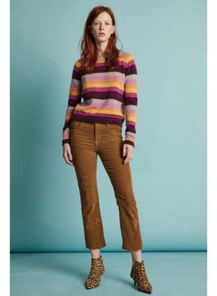 Velvet VT Cash Stripe Sweater Multi