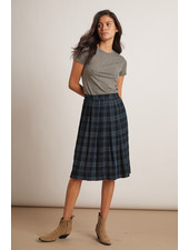 Velvet VT Skirt Plaid Indigo