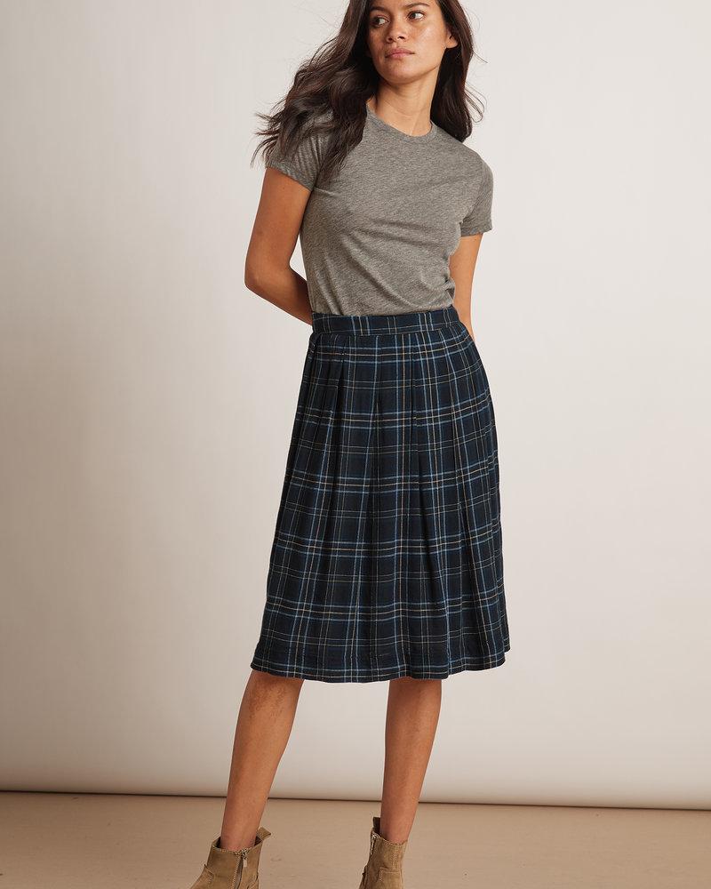 Velvet VT Skirt Plaid Indigo