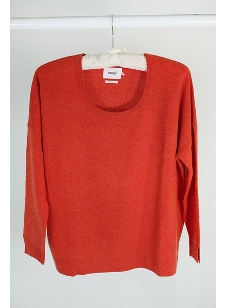 Not Shy Cashmere NS Crew Sweater Marmalade