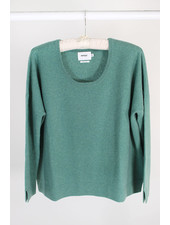 Not Shy Cashmere NS Crew Sweater Tourmaline