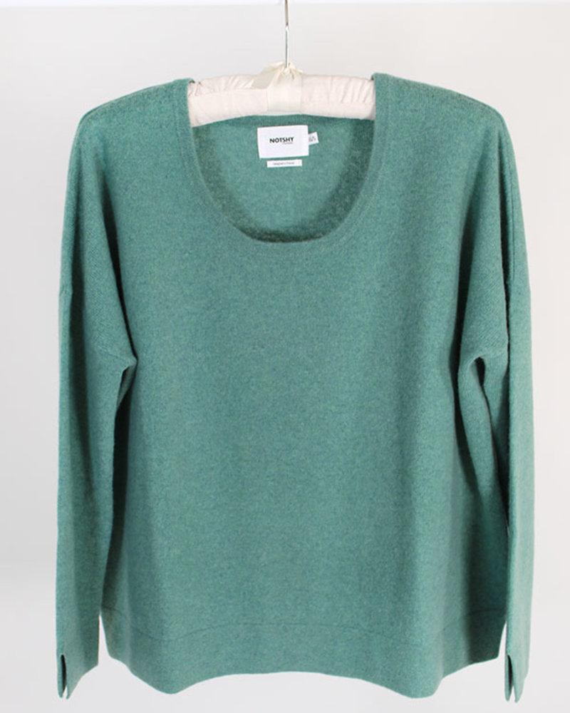 Not Shy Cashmere NS Crew Sweater Tourmaline