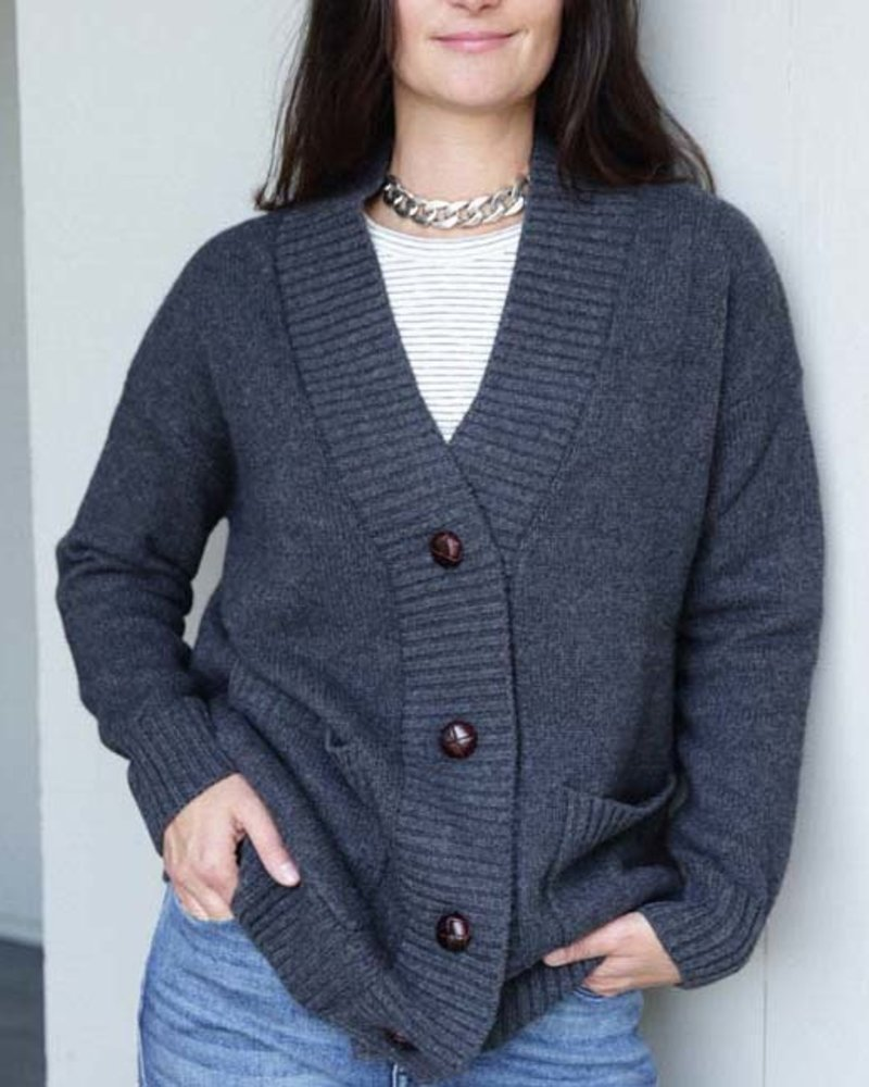 Not Shy Cashmere NS Cashmere Blend Oversized Cardi