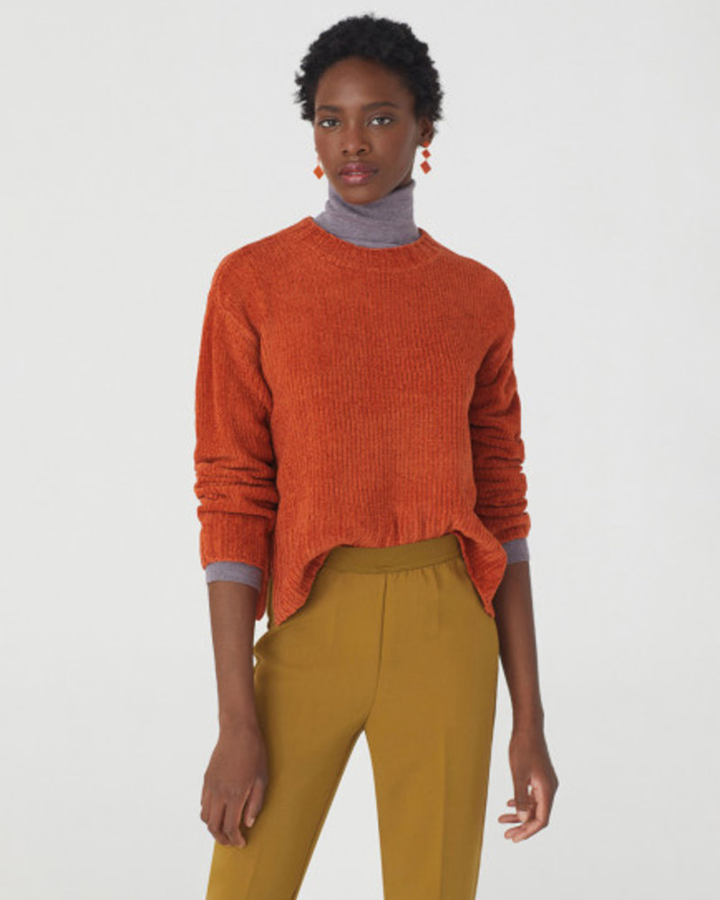 Nice Things NT Chenille Sweater Cinnamon