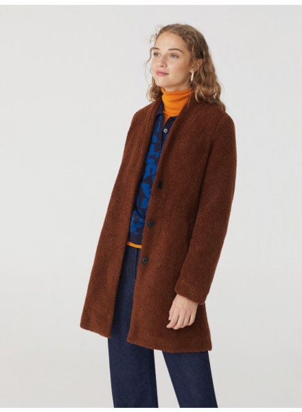 Nice Things NT Sherpa Coat Brown