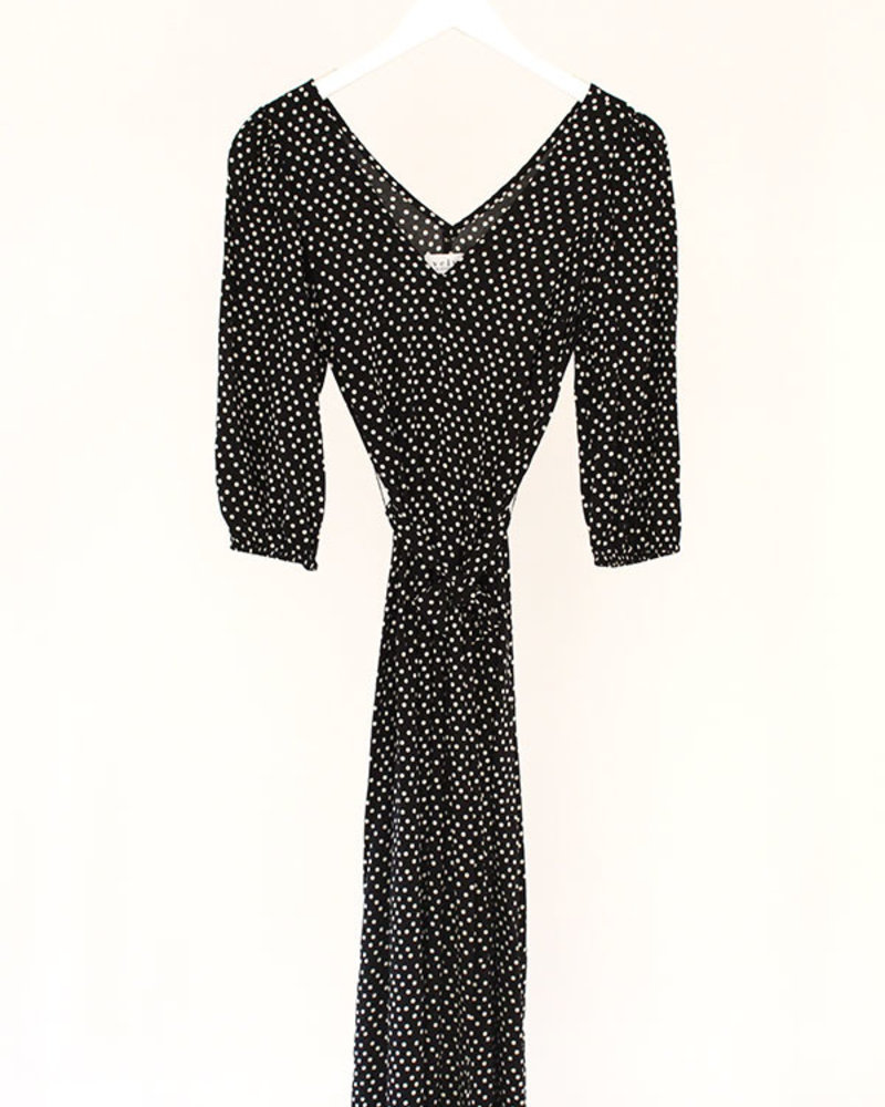 Velvet VT Myrcella Polka Dot Dress Blk