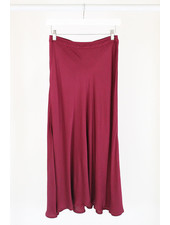 Velvet VT Shelby Satin Skirt Wine