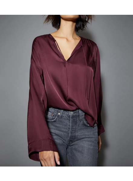 Nation NA Maura Relx Tie Top Mulberry