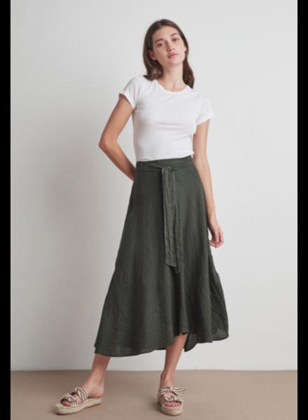 Velvet VT Lin Wrap Skirt Dill