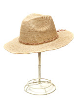 MYS Mika Hat Leather Trim Nat