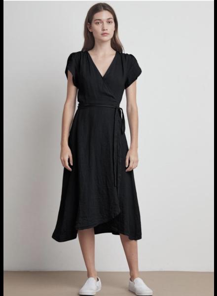 Velvet VT Linen Dress Blk