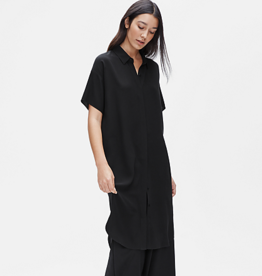 Eileen Fisher Eileen Fisher  Crepe Silk Georgette Shirt Dress