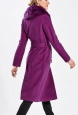 Sentaler Long Coat w/fur  size medium