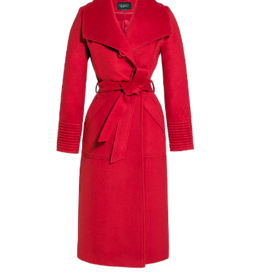 Sentaler MEGHAN Long Wide Collar Wrap Coat