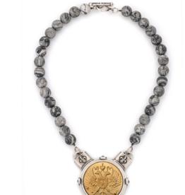 """French Kande  16"""" Matisse Jasper w/ Canard Medallion"""