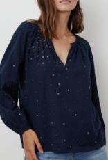 Velvet  Lorena Embroidered Top