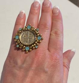 Virgins Saints & Angels SAN BENITO CLOISTER Pacific Opal Ring