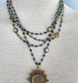 Virgins Saints & Angels MAGDALENA Crystals with San Benito Pendant