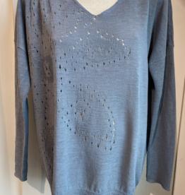 Sarah Pacini Sarah Pacini Light Blue Sweater