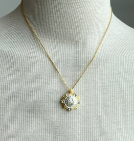 """French Kande  14.5"""" Petite Chain w/medallion"""
